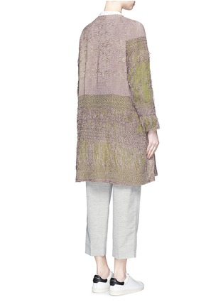 Back View - Click To Enlarge - By Walid - 'Gigi' one of a kind piano shawl silk coat