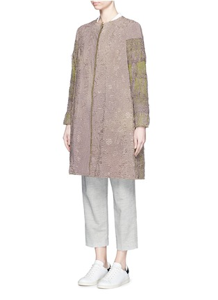 Front View - Click To Enlarge - By Walid - 'Gigi' one of a kind piano shawl silk coat