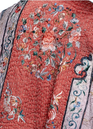 Detail View - Click To Enlarge - By Walid - 'Gigi' Chinese silk panel one of a kind coat