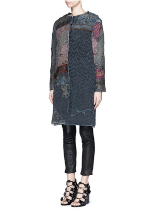 Front View - Click To Enlarge - By Walid - 'Gigi' Chinese silk panel one of a kind coat