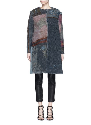 Main View - Click To Enlarge - By Walid - 'Gigi' Chinese silk panel one of a kind coat