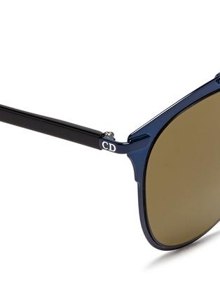 Detail View - Click To Enlarge - Dior - 'Reflected' acetate temple metal veneer aviator sunglasses