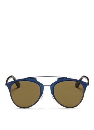 Main View - Click To Enlarge - Dior - 'Reflected' acetate temple metal veneer aviator sunglasses
