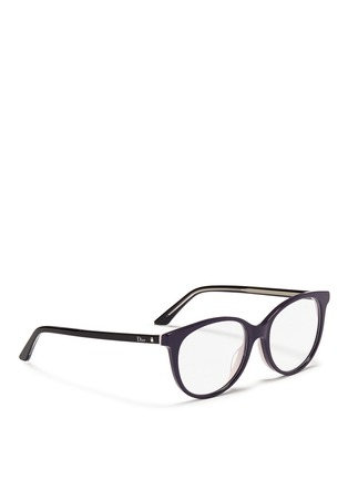 Figure View - Click To Enlarge - Dior - 'Montaigne' acetate round optical glasses