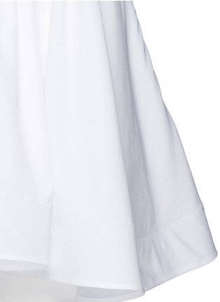 Detail View - Click To Enlarge - Maticevski - 'Profound' cotton poplin strapless flare top