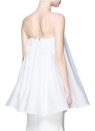 Back View - Click To Enlarge - Maticevski - 'Profound' cotton poplin strapless flare top