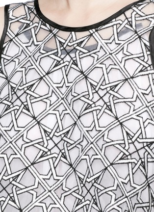 Detail View - Click To Enlarge - Maticevski - 'Interstellar' star jacquard sleeveless cape flare top