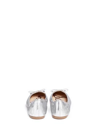 Back View - Click To Enlarge - Sam Edelman - Felicia' metallic leather ballet flats