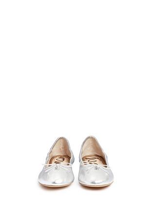 Front View - Click To Enlarge - Sam Edelman - Felicia' metallic leather ballet flats