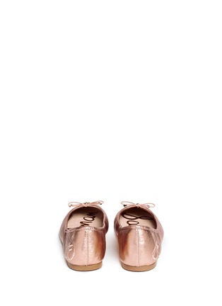 Back View - Click To Enlarge - Sam Edelman - 'Felicia' metallic leather ballet flats