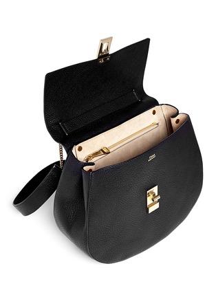 Detail View - Click To Enlarge - Chloé - 'Drew' medium pebbled leather shoulder bag