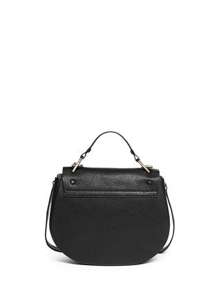 Back View - Click To Enlarge - Chloé - 'Drew' medium pebbled leather shoulder bag