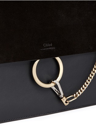 Detail View - Click To Enlarge - CHLOÉ - 'Faye' medium suede flap leather shoulder bag