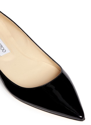 Detail View - Click To Enlarge - Jimmy Choo - 'Alina' patent leather flats