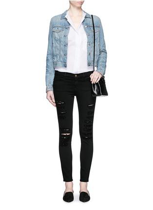 Figure View - Click To Enlarge - Frame Denim - 'Le Skinny de Jeanne' slim fit jeans