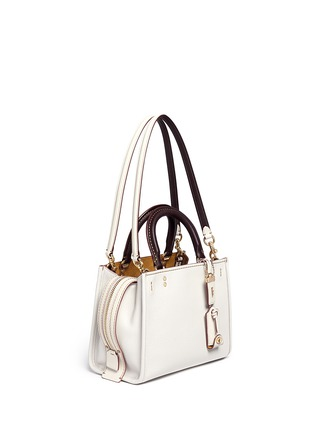 Front View - Click To Enlarge - Coach - 'Rogue 25' glovetanned leather satchel