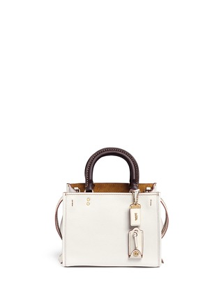 Main View - Click To Enlarge - Coach - 'Rogue 25' glovetanned leather satchel
