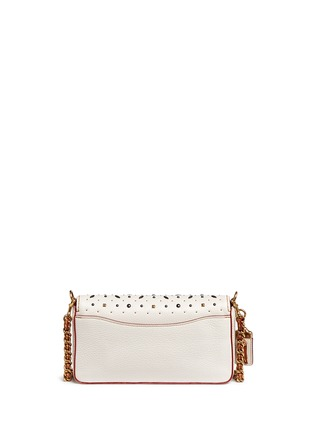 Back View - Click To Enlarge - Coach - 'Dinky' glovetanned leather rivet crossbody bag