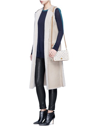 Figure View - Click To Enlarge - Coach - 'Dinky' glovetanned leather rivet crossbody bag