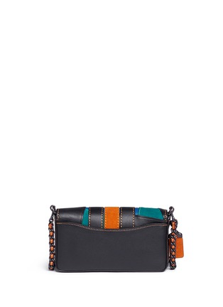Back View - Click To Enlarge - Coach - 'Dinky' varsity patchwork leather crossbody bag