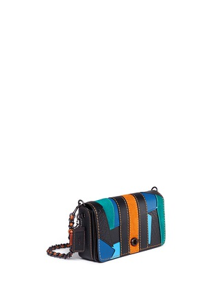 Front View - Click To Enlarge - Coach - 'Dinky' varsity patchwork leather crossbody bag