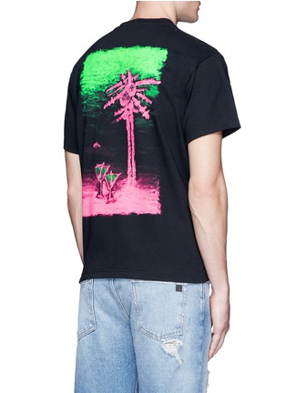Back View - Click To Enlarge - Have A Good Time - Beach back print T-shirt