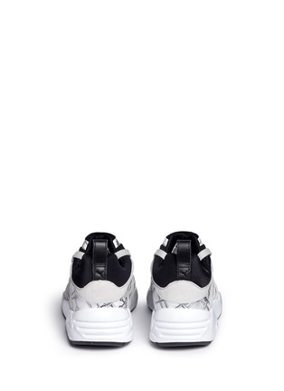 Back View - Click To Enlarge - Puma - x SWASH 'Blaze of Glory' bone print leather sneakers