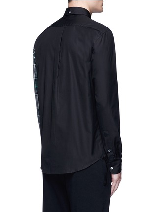 Back View - Click To Enlarge - McQ Alexander McQueen - Check plaid patchwork cotton shirt