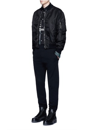 Figure View - Click To Enlarge - McQ Alexander McQueen - Check plaid patchwork cotton shirt