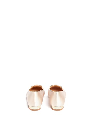 Back View - Click To Enlarge - 201890246 - 'Incy Kitty' satin toddler slip-ons