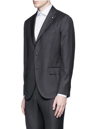 Front View - Click To Enlarge - Lardini - Pinstripe wool suit