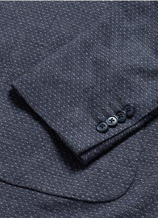 - Lardini - Dot jacquard cotton-wool jersey soft blazer