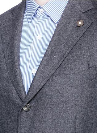 Detail View - Click To Enlarge - Lardini - 'Leisure' silk cashmere flannel blazer