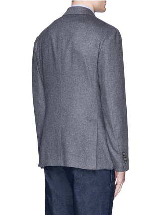 Back View - Click To Enlarge - Lardini - 'Leisure' silk cashmere flannel blazer