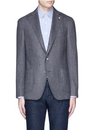 Main View - Click To Enlarge - Lardini - 'Leisure' silk cashmere flannel blazer