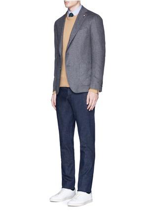 Figure View - Click To Enlarge - Lardini - 'Leisure' silk cashmere flannel blazer