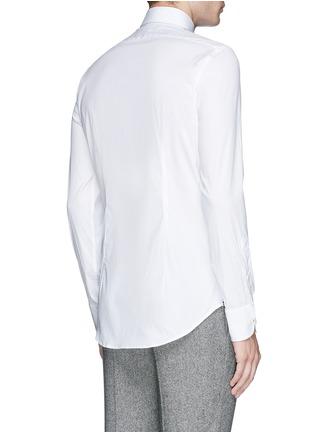 Back View - Click To Enlarge - Lardini - Slim fit stretch cotton poplin shirt