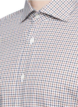 Detail View - Click To Enlarge - Lardini - Check cotton shirt