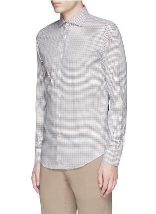 Front View - Click To Enlarge - Lardini - Check cotton shirt