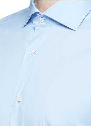 Detail View - Click To Enlarge - LARDINI - Slim fit stretch cotton poplin shirt