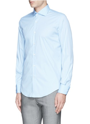 Front View - Click To Enlarge - Lardini - Slim fit stretch cotton poplin shirt