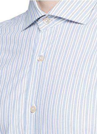 Detail View - Click To Enlarge - Lardini - Diamond stripe jacquard cotton shirt