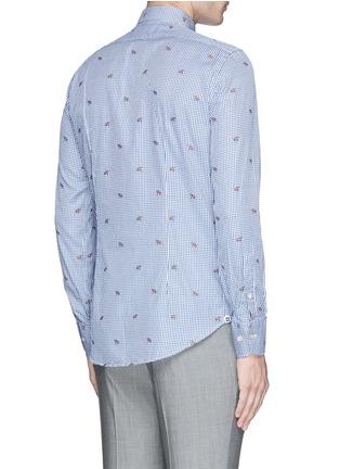 Back View - Click To Enlarge - Lardini - Fox jacquard gingham check shirt