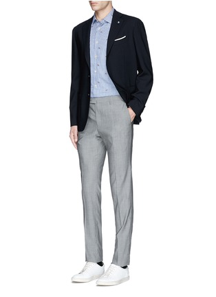 Figure View - Click To Enlarge - Lardini - Fox jacquard gingham check shirt