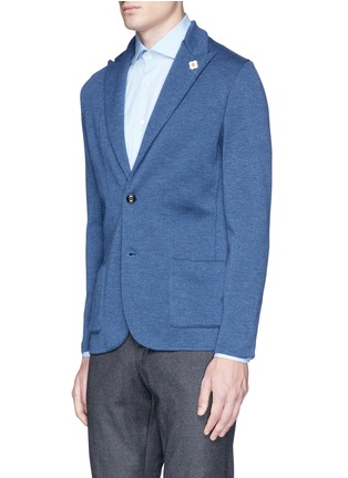 Front View - Click To Enlarge - LARDINI - Wool knit soft blazer