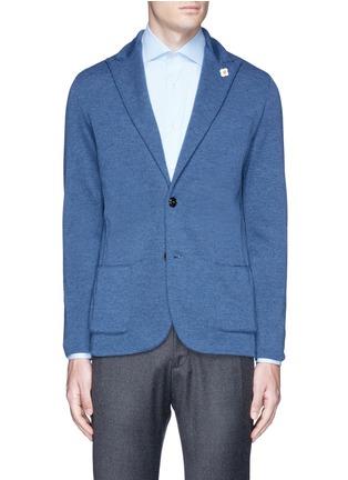 Main View - Click To Enlarge - Lardini - Wool knit soft blazer