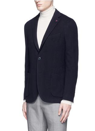 Front View - Click To Enlarge - Lardini - Cotton-cashmere jersey soft blazer