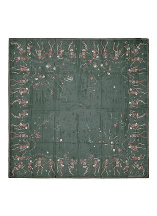 Main View - Click To Enlarge - Alexander McQueen - 'Funny Bones Dance' skull print silk chiffon scarf