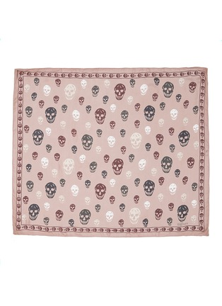 Main View - Click To Enlarge - Alexander McQueen - Bicolour skull silk chiffon scarf