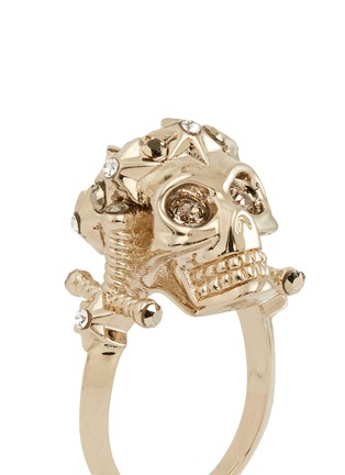 Detail View - Click To Enlarge - Alexander McQueen - Star dust royal skull ring